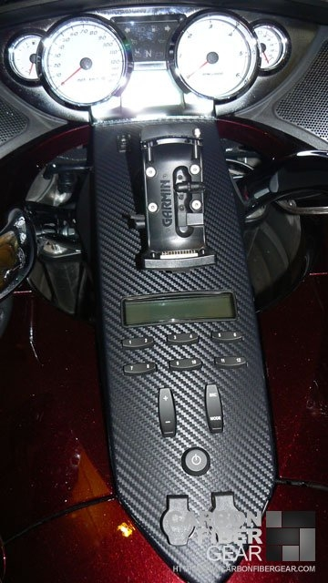 2009 Victory Vision motorcycle wrapped with 3M carbon fiber vinyl