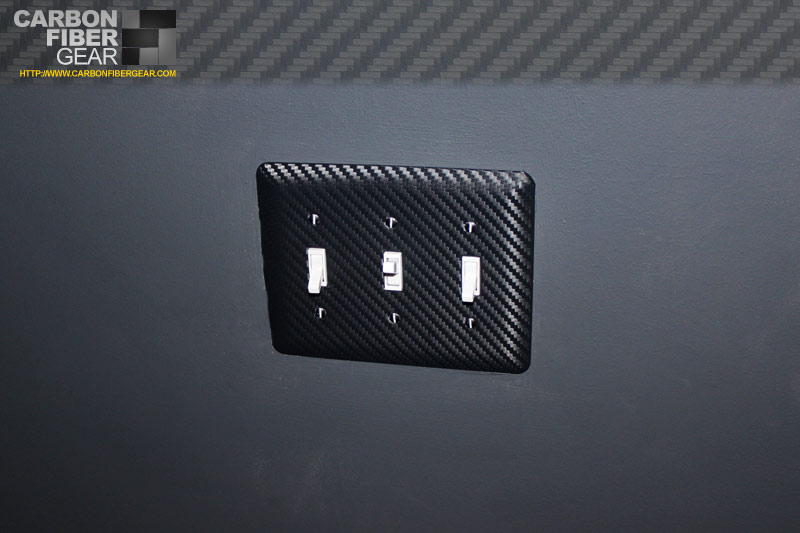 We Make Our Light Switch Plates Look Like Carbon Fiber