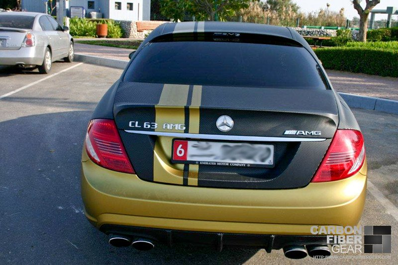 Cl63 With Two Tone 3m Di Noc Carbon Fiber Matte Gold Wrap