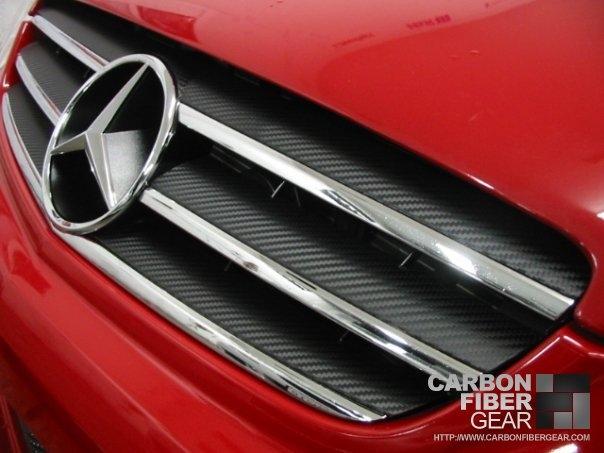 Mercedes CLK63 AMG Black Series with 3M carbon fiber DI-NOC grille