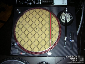 Technics 1200 MK2 turntable with 3M carbon fiber DI-NOC film