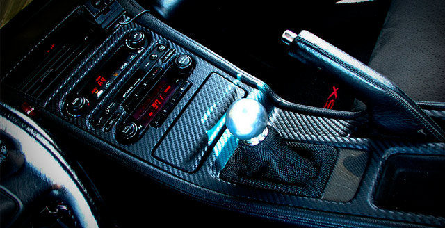 Acura NSX with carbon fiber 3M DI-NOC interior