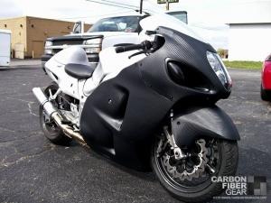 Hayabusa wrapped in 3M carbon fiber DI-NOC vinyl