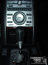 Acura TL shift knob with 3M carbon fiber vinyl