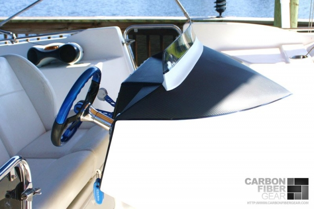 Catamaran Avantage dash with 3M DI-NOC carbon fiber vinyl