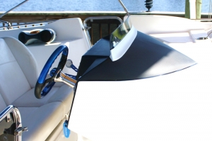 Catamaran Avantage dash with 3M DI-NOC carbon fiber vinyl