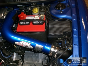 Dodge Neon SRT4 roof with carbon fiber DI-NOC in the engine bay