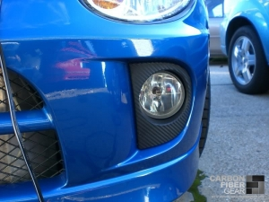 Dodge Neon SRT4 roof with carbon fiber DI-NOC on the foglight