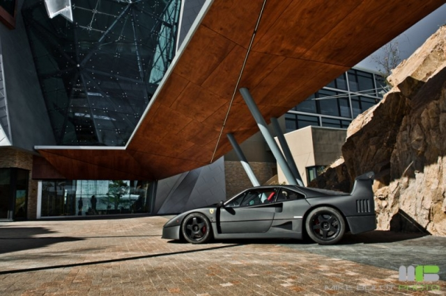 Ferrari F40 fully wrapped in 3M DI-NOC carbon fiber vinyl
