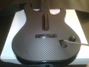 Guitar Hero guitar with 3M carbon fiber vinyl