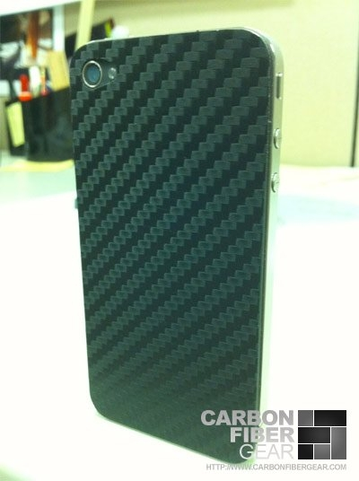 iPhone 4 wrapped in 3M carbon fiber DI-NOC vinyl