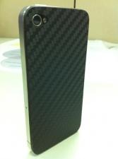 iPhone 4 wrapped in 3M carbon fiber DI-NOC vinyl