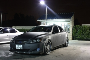 Lexus IS350 completely wrapped in 3M Carbon Fiber DI-NOC Vinyl