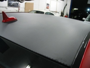 Mercedes CLK63 AMG Black Series with 3M carbon fiber DI-NOC roof