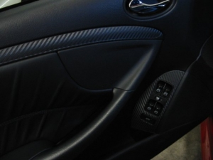 Mercedes CLK63 AMG Black Series with 3M carbon fiber DI-NOC door