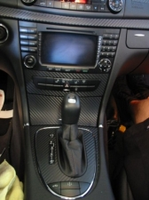 Mercedes CLK63 AMG Black Series with 3M carbon fiber DI-NOC center dash