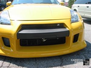 Nissan 350Z with 3M DI-NOC carbon fiber vinyl bumper accent