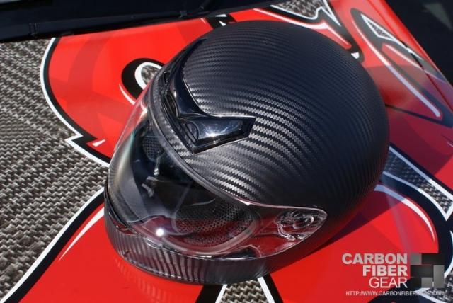 Shoei helmet wrapped in 3M carbon fiber DI-NOC vinyl