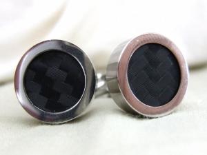 Cufflinks with carbon fiber DI-NOC