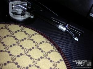Technics 1200 MK2 turntable with 3M carbon fiber DI-NOC film